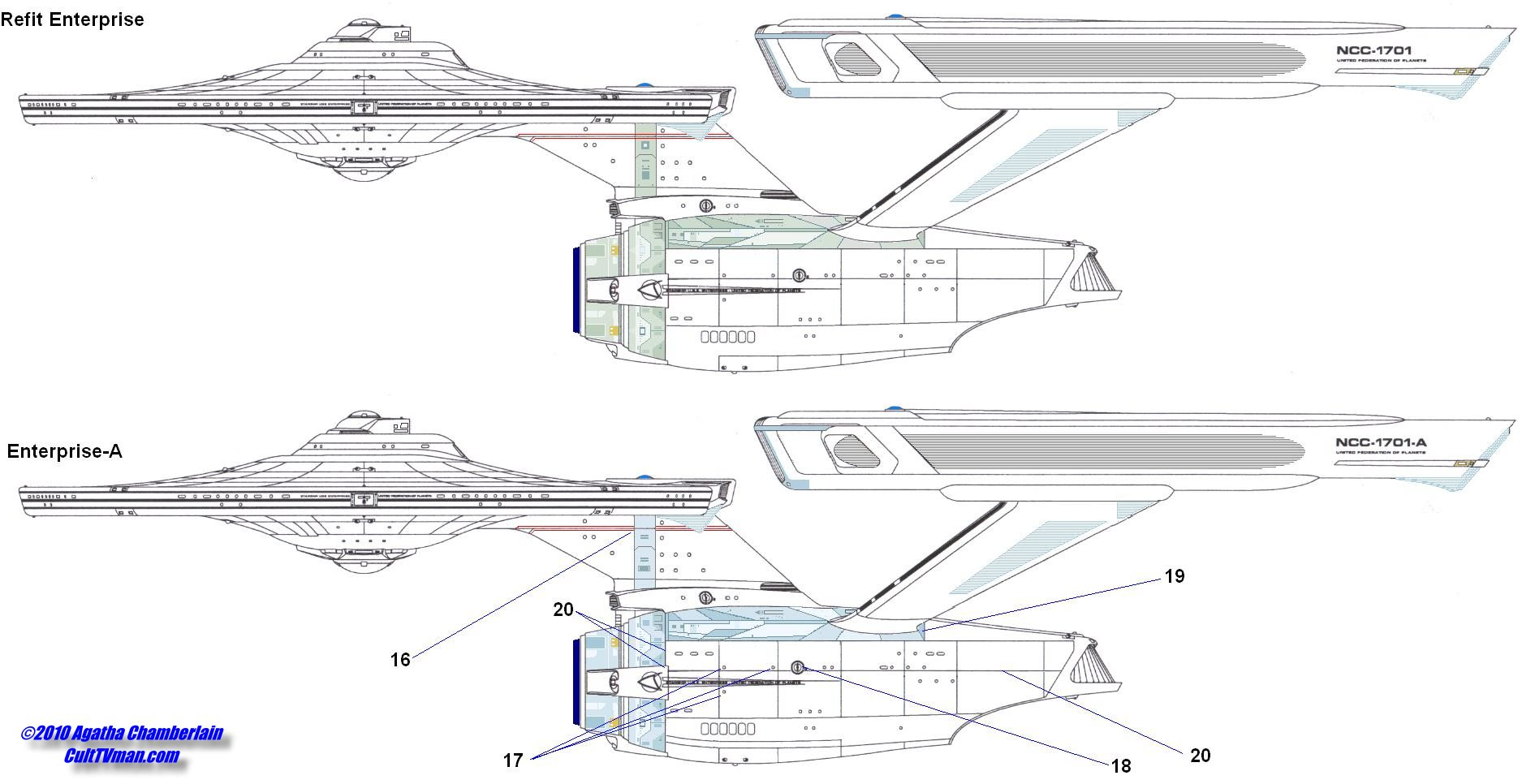 Agatha Chamberlain's Refit Enterprise diagrams