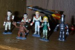 Jeff Tirante's Fireball XL-5 figures