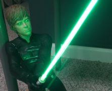 Bryan Hughes' Luke Skywalker with light saber