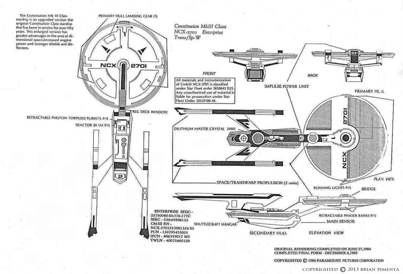 Brian Pimentas Ncx 2701 Concept Starship Culttvmans Fantastic